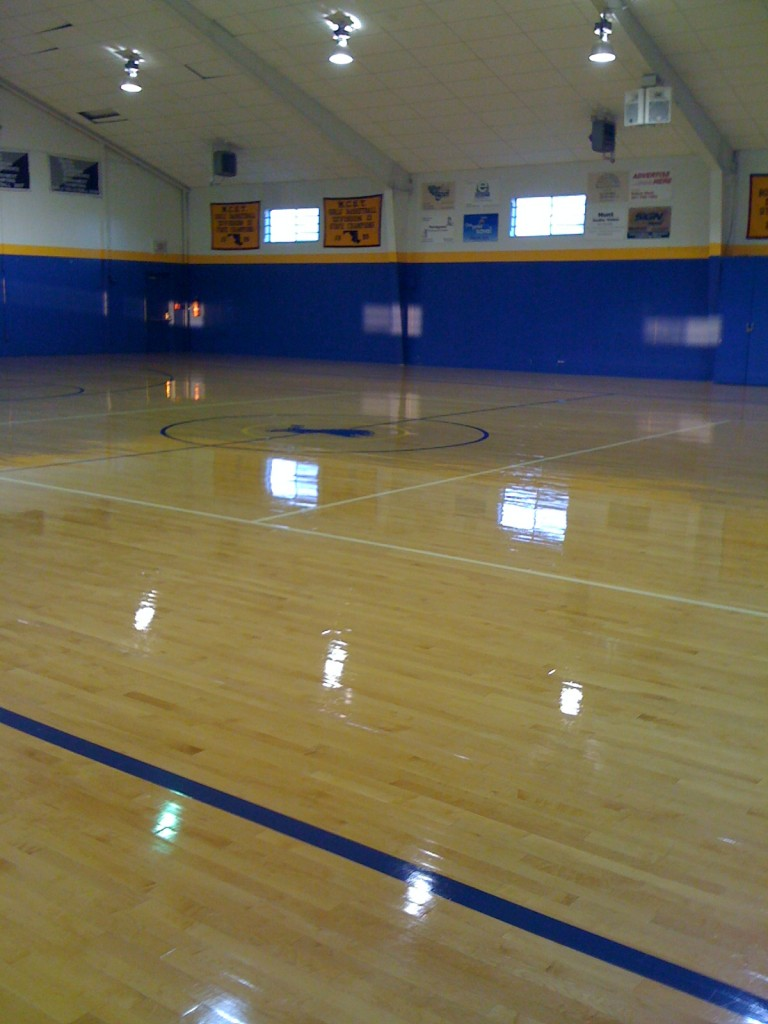 Waxed Auditorium Floor | Commercial Cleaning